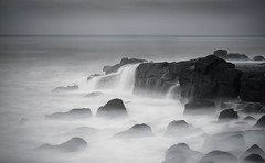 Black Rock, Victoria (Trace Connolly) Tags: australia australian beach beaches bellarinepeninsula blackandwhite blackandwhitephotography blackrock black coast canon7d canon cloudsstormssunsetssunrises environmentalphotography foreshore landscape longexposure light movement monochromephotography monochrome naturephotography nature ocean rocks rockyshore seascape sigma seascene sea sigma1750f28exdcoshsm timeexposure sunrise surfcoast surf waves water ghostwaves waterfalls sunlight sky