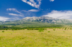 Dinara (Syka-MTB) Tags: blue sky mountain green nature clouds croatia dinara