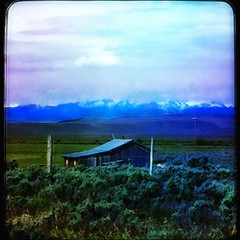 Wyoming dusk... (Sherrianne100) Tags: mountains dusk farm wyoming flickerunitedaward