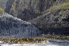 Des orgues basaltiques sur l'île de Staffa