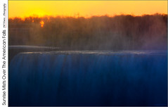Sunrise Mists Over The American Falls (jwvraets) Tags: niagarafalls americanfalls sunrise mists orange blue opensource rawtherapee gimp nikon d7100 nikkor70300mmvr