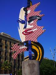 Head Sculpture (Darren-Holes) Tags: barcelona headsculpture sculpture popart roylichtenstein 1992 1992olympics olympicgames ramblas