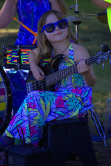 The Youngest Band Member (swong95765) Tags: music girl rock electric kid guitar performance player talent
