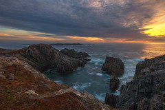 Cape Bonavista Sunset (Explore - Best Position #17 - July 1, 2016) (Brian Krouskie) Tags: ocean sunset cloud seascape rock newfoundland landscape coast outdoor explore cape bonavista nikon173528 nikond800