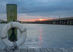 Hometown = Comfort (thecheetahexpress) Tags: ocean city sunset sea beach water bay pier dock maryland route 50 ocmd