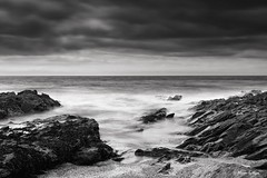 The Rough with the Smooth (Ali Ly) Tags: longexposure sea seaweed beach clouds rocks surf day waves outdoor slate porthleven leefilter bigstopper