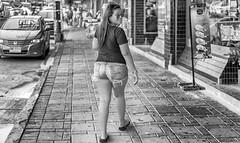 Afternoon walking . (Ammar Crazzy) Tags: blackandwhite bw streets thailand nikon thai thaigirl thailady d810 thaistreet