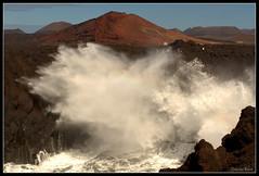 Los Hervideros (Zsuzsa Por) Tags: espaa mar spain agua wave lanzarote paisaje canarias 2470l nube ef2470mmf28lusm ola loshervideros canonistas canoneos7d