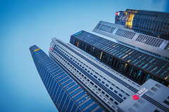 Line Up (elenaleong) Tags: skyline singaporeriver skyscapers citysape singaore elenaleong