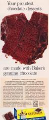 Baker's Chocolate 1958 (moogirl2) Tags: vintage retro 1958 50s 50sstyle vintageads retrofood bakerschocolate 50sads 50sfoods