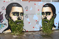 Id-Iom With Ivy Beard Hipsters (cocabeenslinky) Tags: street uk england urban plant streetart green art festival by bristol children beard real lumix photography graffiti hipsters artist gallery with photos united north arts july ivy kingdom bedminster panasonic national alcohol greenery graff association artiste affected 2015 posca bs3 idiom upfest nacoa dmcg6 cocabeenslinky