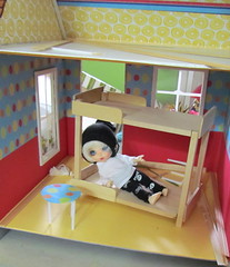 Bed building and chair making (Flava Sweet) Tags: doll bjd zane fairyland dollhouse taggame flavasweet pukifeezio