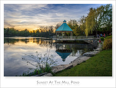 Sunset At The Mill Pond (Light Forger) Tags: family blue trees sunset summer sky ontario canada water beautiful beauty relax photography evening fishing nikon sundown peaceful tranquility walkway photowalk millpond qualitytime cameraclub lightforger miltoncameraclub