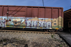 Fuego (Revise_D) Tags: railroad graffiti fuego tagging freight sob revised sluts fr8 knd benching fr8heaven benchedgoods