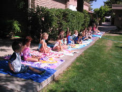 Alexy's Water Day at School (Beauty Playin 'Eh) Tags: bathingsuits playingoutside kidsplaying waterday girlsinswimsuits