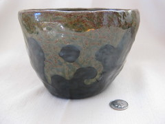Splash bowl, dot between gloops (mikkashar) Tags: ceramic waterdrop crafts bowl clay pottery coilbuilt darkstoneware madebymikkashar