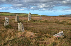 Boskednan Stone Circle (Rich3012) Tags: uk wild england stone standing circle landscape countryside ancient cornwall britain stones country nine moor hdr neolithic cornish moorland maidens boskednan