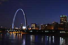 St. Louis Skyline (dougclemens) Tags: saint st river mississippi louis arch mo gateway d5100