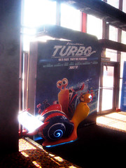 Turbo Racing Snail Light Up Standee 1779 (Brechtbug) Tags: street new york city nyc blue light holiday film computer movie poster spring theater neon theatre character cartoon decoration snail racing billboard lobby turbo ornament ornaments 25 empire animation amc 42nd standee standees 2013 06152013