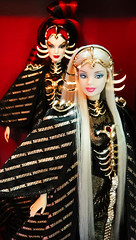 Queen of Constellations and her princess sister (possiblezen) Tags: 3 saint bill doll alien goddess barbie queen fanclub arctic galaxy future northern limited edition constellations exclusive futuristic direct constellation seiya greening