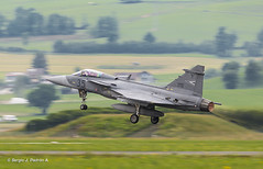 Saab JAS-39 Gripen (sjpadron) Tags: airplane nikon fighter aviation airshow takeoff saab caza d800 hungra aviacin despegue zeltweg gripen jas39c hunaf hungarianairforce magyarlgier airpower2013