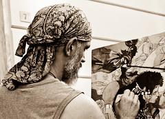 Pintura en la calle, Carrara (xolhe) Tags: blackandwhite retrato retratos artistas pintura pintores blanconegro xolhe