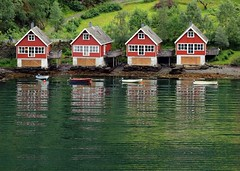 Four Flam Boathouses (saxonfenken) Tags: 16thjulye30 boathouse four boats reflection water fiord flam norway pregamesweepwinner friendlychallenges herowinner gamesweepwinner favescontestwinner gamex2sweepwinner faveswinner storybookwinner fotocompetition fotocompetitionbronze favescontestfavored challengeyou storybookttwwinner agcgwinner gamex3sweepwinner thechallengefactory bigmomma thumbsup ultrahero a3b 9994 9994house 15challengeswinner duelsweepwinner duelsweep perpetual