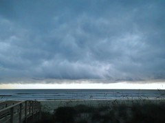 thunderstorm rolling over anastasia island, florida (1 august 2013) a (amy32080) Tags: ocean beach clouds florida crescentbeach storms thunderstorms anastasiaisland 32080
