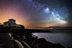 The Lighthouse Milky Way (Chad Powell Design and Photography) Tags: ocean uk sea england beach night canon rocks astro clear astrophotography ventnor isleofwight astronomy nightsky highiso milkyway 6d steephillcove canon6d Astrometrydotnet:status=failed Astrometrydotnet:id=supernova2057