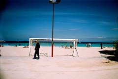delmo (raphamax) Tags: sea beach football goal lomo lomography mare tor palermo sicilia mondello lasardina