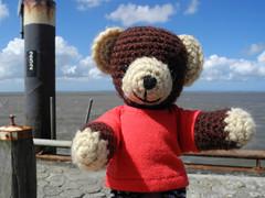Felix sieht das Meer als erster (Lenekie) Tags: bear toy teddy crochet amigurumi br teddybr