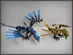 Lightning vs Gold (Johnny-boi) Tags: set cool wings dragon lego awesome walker legos build ninjago