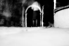 footstepS [Explored] (niK10d) Tags: door longexposure castle girl ghost viniciocapossela pentaxk10d 31mmf18limited