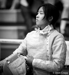 Unmasked 2 (Dion Cragg) Tags: portrait blackandwhite bw sport asian thailand blackwhite asia bangkok sabre thai sword fencing asiangirls digitalcameraclub asianportrait asianportraits competitivefencing