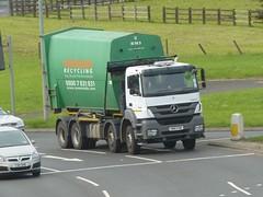 HN61 PXM (Cammies Transport Photography) Tags: truck mercedes benz edinburgh roundabout lorry recycling newbridge severnside axor hn61pxm