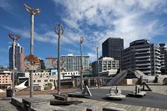 Wellington-Civic Square (scrumpy 10) Tags: newzealand art nikon arts wellington ferns civicsquare aotearoa neuseeland nikau d800 communityarts jacqualine scrumpy10