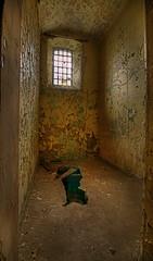 The Cell. (Alex takes photos.) Tags: door rot st dark insane high scary nikon rust peeling escape dynamic hole decay no edited cell days explore 28 peel exploration lunatic asylum range johns hdr edit later ue mental urbex d300 cs3 photomatix