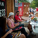 Poole College of Management students take advantage of the weather on Wednesday during Shack-A-Thon.