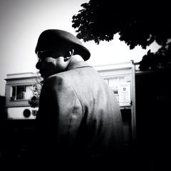 Dapper (Melissa Elayne) Tags: blackandwhite bw germantown philadelphia streetphotography documentary philly bnw blancetnoir parkingday