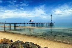 Brighton Beach Jetty (_neb) Tags: ocean sea sky seascape beach water clouds composition canon landscape pier seaside scenery brighton view jetty australia scene adelaide southaustralia oceanview brightonbeach impression seaview beachside crystalclear foregroundinterest canoneos550d