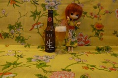 iKi from Japan with a home-made dress