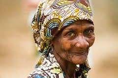 (Surely) The World's Best Pygmy Granny (Universal Stopping Point) Tags: portrait woman smile village dancing traditional headscarf tribal elderly grin uganda tribe twa pygmy headwrap batwa nearsemulikinationalpark