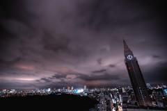 Big Ben + Empire State = DOCOMO Tower ? (hidesax) Tags: light sky urban tower japan night clouds tokyo nikon shinjuku raw cityscape nightscape nikkor hdr docomo 5xp nikkor1424mmf28ged hidesax d800e nikond800e bigbenempirestatedocomotower