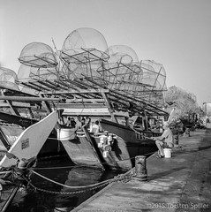 Fisher Boat (Robber34) Tags: leica blackandwhite bw tlr film rollei analog rolleiflex mediumformat analogue schwarzweiss doha qatar foma fomapan katar mittelformat