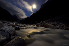 River Bhagirathi in moonlight at Gangotri, Uttarakhand (Bharat Baswani) Tags: river moonlit moonlight ganga ganges gangotri bhagirathi uttarakhand