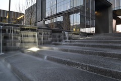 Autzen 1 (bryangalloway) Tags: fountain nikon uofo universityoforegon oregonducks slowshutterspeed movingwater studentphotography