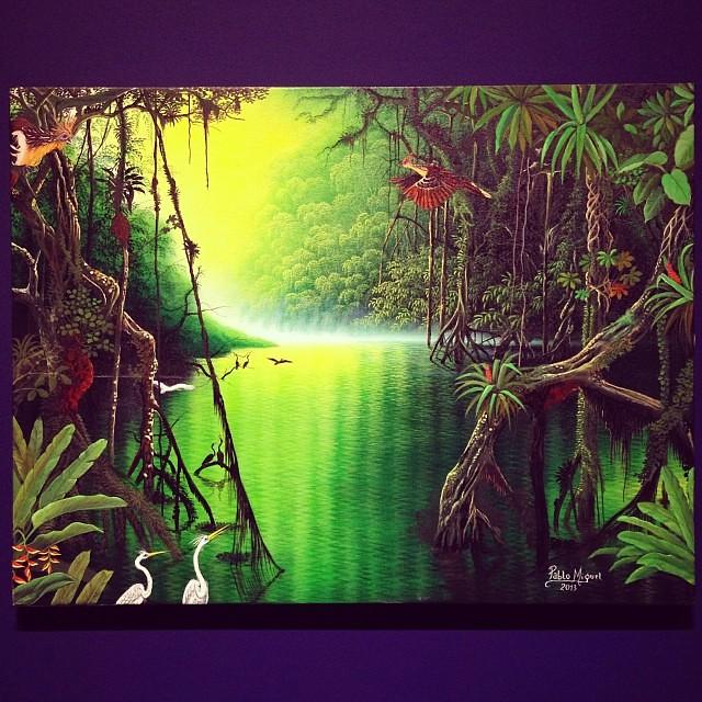 """Pablo Miguel Vasquez Gonzales """"Usko Ayar"""" • """"La escuela de las Visiones"""" #art #arteenlima #artinlima #arte #artist #artista #painting #pintura"""