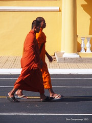 424 Two Monks at the Royal Palace in Phnom Penh (Don C. over 1.9 Million Views) Tags: color colorful cambodia monks excellent phnompenh