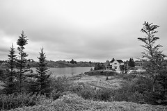 Stonehurst, Nova Scotia, Canada (bm^) Tags: ca travel trees sea bw white house canada black tree zeiss t nikon novascotia zwartwit photos reis zee shore carl and zwart wit 228 kust mre distagon 282 zf stonehurst d700 zf2 nikond700  distagon282zf distagont228