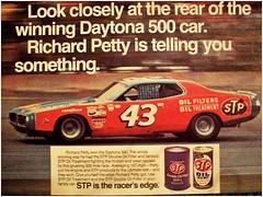 1974 Dodge Charger  Richard Petty  STP Oil ad (Rickster G) Tags: 1969 car ads 1974 1971 flyer 60s muscle convertible super literature 1966 bee richard oil 1967 70s dodge 1970 1968 hemi mopar 500 daytona sales 1972 brochure 440 1973 rt charger sixpack dealer 426 petty stp 383 4406 bbody scatpack